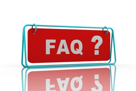 Frequently Asked Questions symbol isolated on white background Stock Photo - 9206367