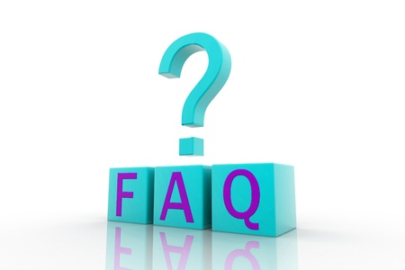 Frequently Asked Questions symbol isolated on white background Stock Photo - 9229037