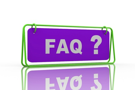 Frequently Asked Questions symbol isolated on white background Stock Photo - 9229043