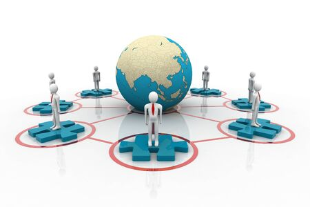 mutual assistance: Global network  Stock Photo
