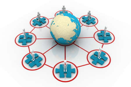 interpersonal: Global network  Stock Photo