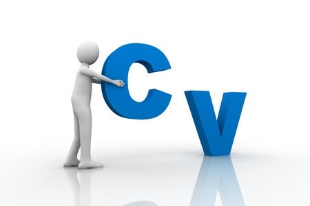 cv: Concepto de CV  Foto de archivo