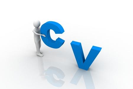 CV Concept Stock Photo - 9237734