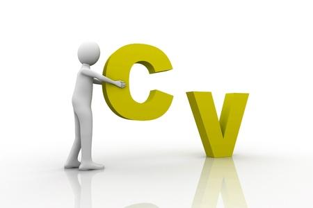 CV Concept Stock Photo - 9237730