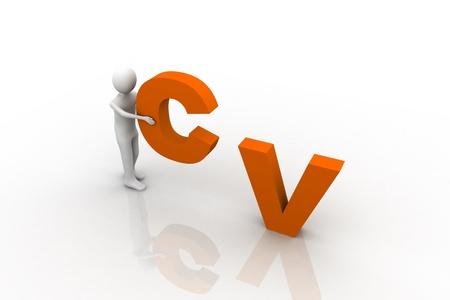 CV Concept Stock Photo - 9237808