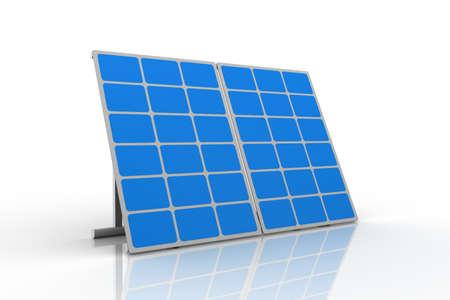 monocrystalline: mono-crystalline solar panels against a white background