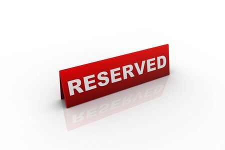 Table illustration Reserved Sign isolated over a white background. Stock Illustration - 9237743