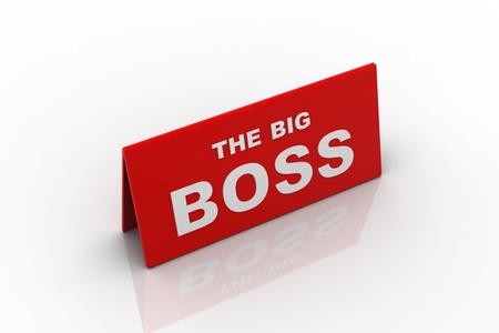stringent: The big boss concept Stock Photo