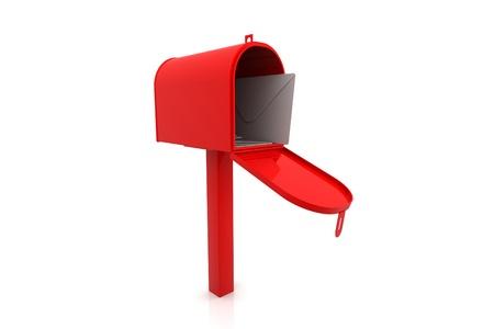 pillar box: 3d rendering of mail box
