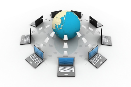 commerce communication: Global information sharing  Stock Photo