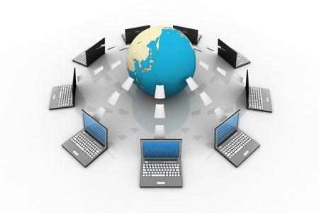Global information sharing Stock Photo - 9242716