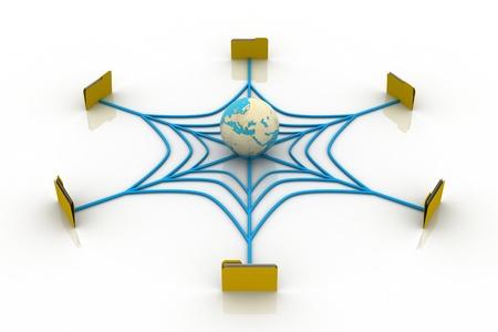Global Data Network Stock Photo - 9259593