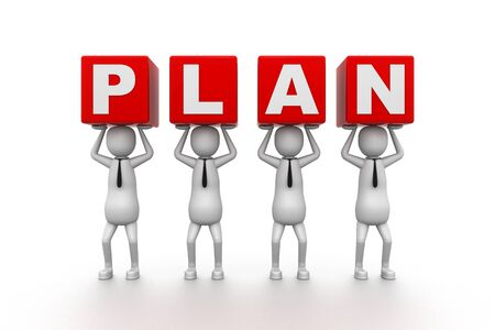 3D Plan Idea Stock Photo - 9259482