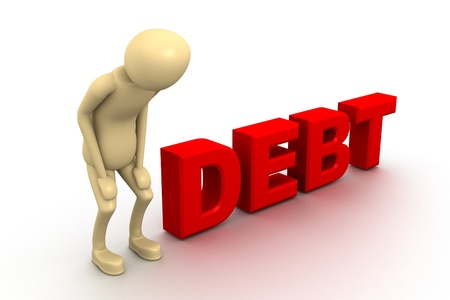 Debt Stock Photo - 9254475