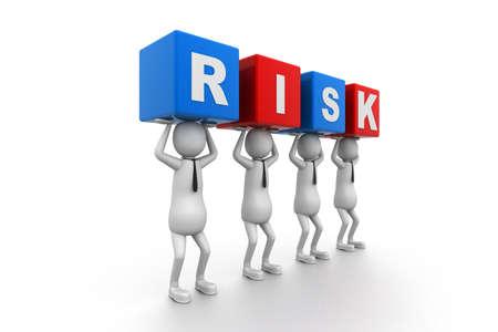 Risk Blocks Stock Photo - 9254345