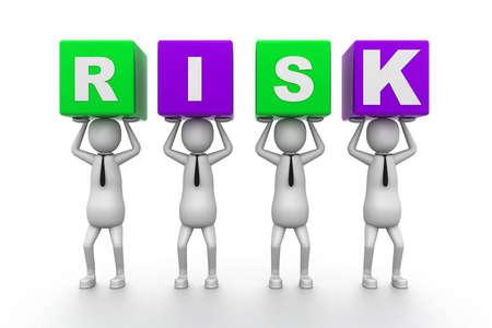 Risk Blocks Stock Photo - 9254383