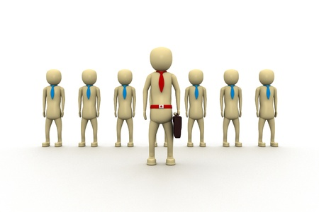 co operation: Business team and leadership Stock Photo