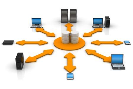 mainframe: Network Database  Stock Photo