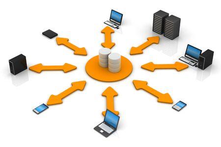 Network Database Stock Photo - 9336729