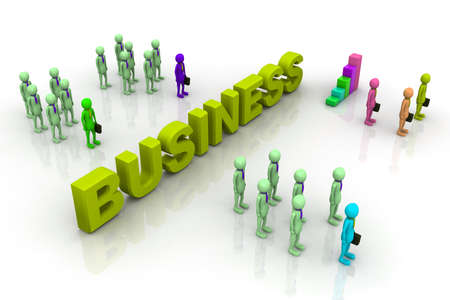 co action: Business People