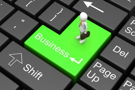 e market: Business men and key board