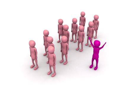 co operation: Stand Out From The Crowd Stock Photo