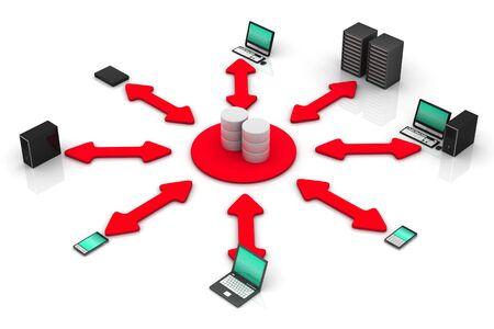 Network Database Stock Photo - 9336739