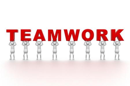 teamwork cartoon: Team work