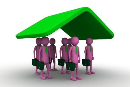 co operation: Business Insurance Stock Photo