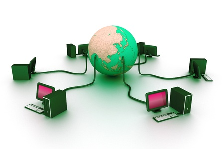 co operation: Global network  Stock Photo