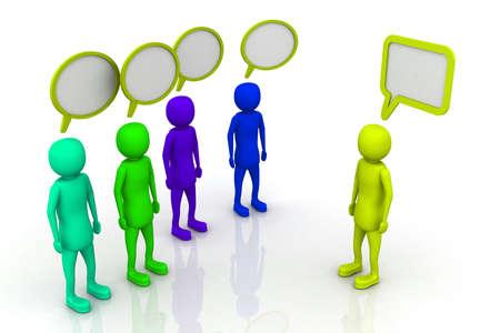 opposing: Opposing views  Stock Photo