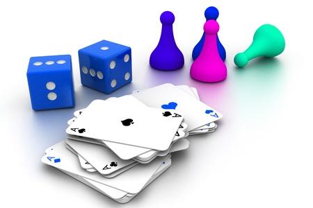 Boardgame pieces Stock Photo - 9337109