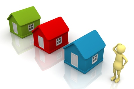 Choosing the right home Stock Photo - 9337047