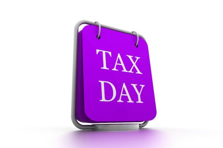 tearaway: calendar and words that read Tax Day