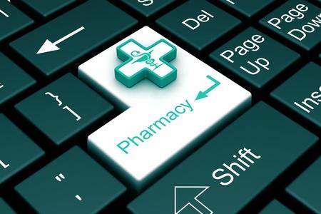 pharmacy enter key Stock Photo - 9288429