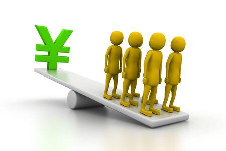 yen sign: Yen sign - Balance Concept