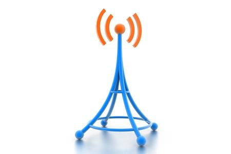 wireless tower: Communication Tower  Stock Photo