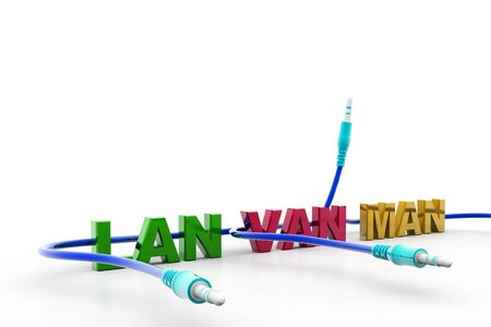 Digital illustration of  Computer network connection in isolated background illustration