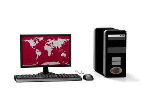 Digital illustration of computer in isolated background  illustration