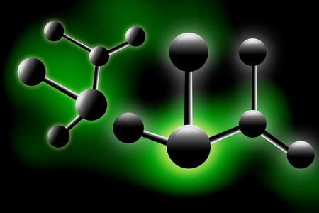 Digital illustration  of molecule illustration