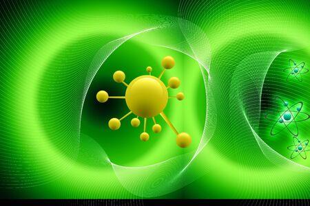 Digital illustration  of molecule