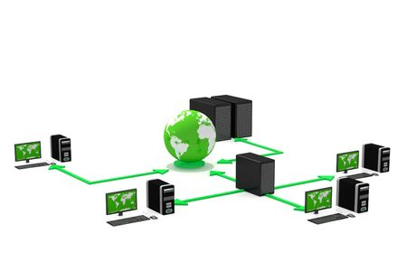 Computer Network in isolated background Stock Photo - 9534346
