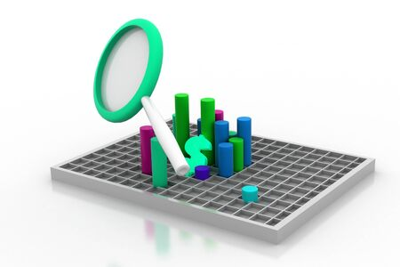 overvalued: Analyzing the Data Stock Photo