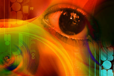 eye concept in attractive background  photo