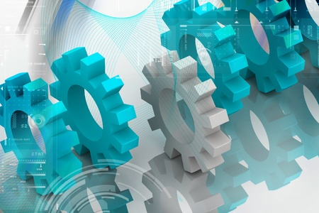 gear wheel: Digital illustration  of gear in attractive background