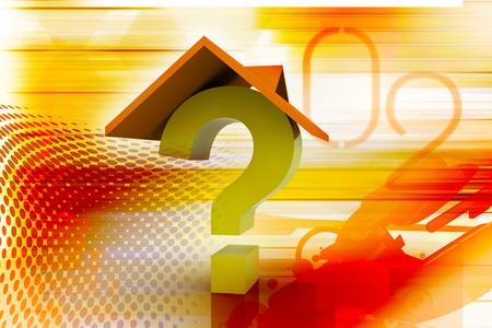 Real estate concept. High quality digital illustration Stock Illustration - 9574764