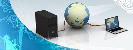 service sphere support web: Social network concept, internet concept Stock Photo