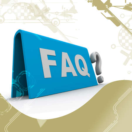 dubious: Highly rendering of faq in attractive  background Stock Photo