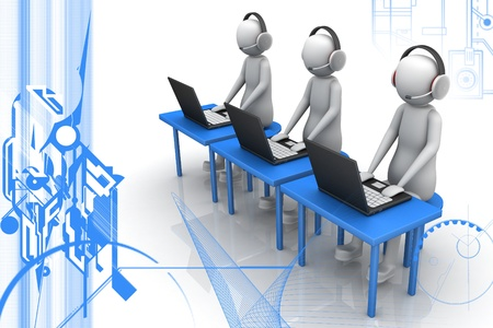man call center Stock Photo - 9574953