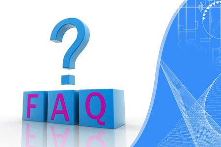 frequently: Frequently Asked Questions symbol isolated on attractive background